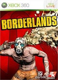 Box cover for Borderlands on the Microsoft Xbox 360.