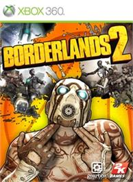 Box cover for Borderlands 2 on the Microsoft Xbox 360.