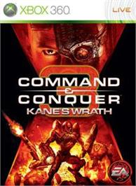 Box cover for C&C3: Kane's Wrath on the Microsoft Xbox 360.