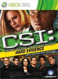 Box cover for CSI-Hard Evidence on the Microsoft Xbox 360.