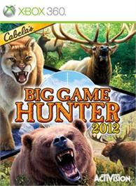 Box cover for Cabela's Big Game Hunter 2012 on the Microsoft Xbox 360.
