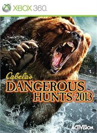 Box cover for Cabela's Dangerous Hunts 2013 on the Microsoft Xbox 360.