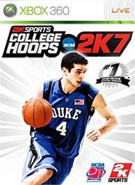 Box cover for College Hoops 2K7 on the Microsoft Xbox 360.