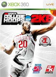 Box cover for College Hoops 2K8 on the Microsoft Xbox 360.