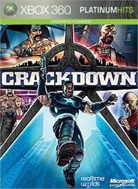Box cover for Crackdown on the Microsoft Xbox 360.