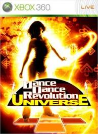 Box cover for DDR/DS Universe on the Microsoft Xbox 360.