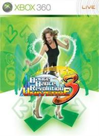 Box cover for DDR Universe 3 on the Microsoft Xbox 360.
