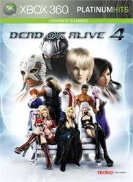 Box cover for DEAD OR ALIVE 4 on the Microsoft Xbox 360.