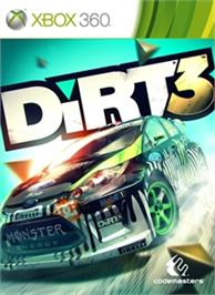 Box cover for DiRT 3 on the Microsoft Xbox 360.