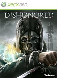 Box cover for Dishonored on the Microsoft Xbox 360.