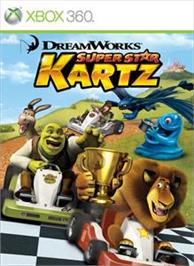 Box cover for DreamWorks Kartz on the Microsoft Xbox 360.
