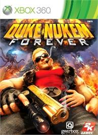 Box cover for Duke Nukem Forever on the Microsoft Xbox 360.
