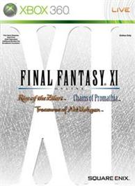 Box cover for FINAL FANTASY XI on the Microsoft Xbox 360.