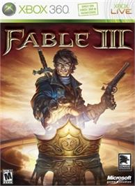 Box cover for Fable III on the Microsoft Xbox 360.