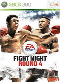 Box cover for Fight Night Round 4 on the Microsoft Xbox 360.