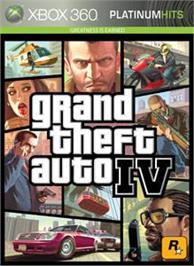 Box cover for GTA IV on the Microsoft Xbox 360.