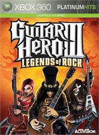 Box cover for Guitar Hero III on the Microsoft Xbox 360.