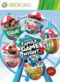 Box cover for Hasbro Family Game Night 3 on the Microsoft Xbox 360.