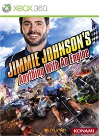 Box cover for Jimmie Johnson's Anything With An Engine on the Microsoft Xbox 360.
