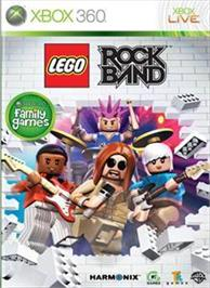 Box cover for LEGO Rock Band on the Microsoft Xbox 360.
