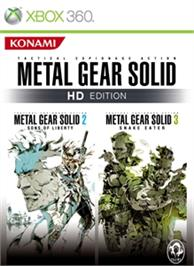 Box cover for MGS 2&3 on the Microsoft Xbox 360.