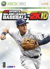 Box cover for MLB 2K10 on the Microsoft Xbox 360.