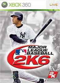 Box cover for MLB 2K6 on the Microsoft Xbox 360.