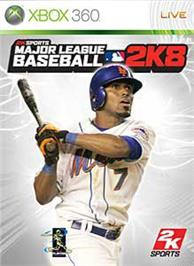 Box cover for MLB 2K8 on the Microsoft Xbox 360.