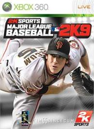 Box cover for MLB 2K9 on the Microsoft Xbox 360.