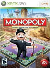 Box cover for MONOPOLY on the Microsoft Xbox 360.
