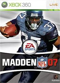 Box cover for Madden NFL 07 on the Microsoft Xbox 360.