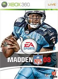 Box cover for Madden NFL 08 on the Microsoft Xbox 360.