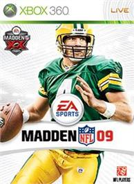 Box cover for Madden NFL 09 on the Microsoft Xbox 360.