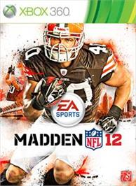 Box cover for Madden NFL 12 on the Microsoft Xbox 360.