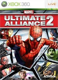 Box cover for Marvel Ult. Alliance 2 on the Microsoft Xbox 360.