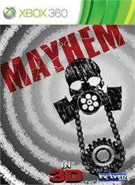 Box cover for Mayhem on the Microsoft Xbox 360.