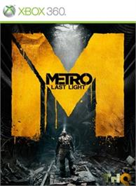 Box cover for Metro: Last Light on the Microsoft Xbox 360.