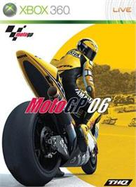 Box cover for MotoGP 06 on the Microsoft Xbox 360.
