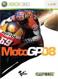 Box cover for MotoGP 08 on the Microsoft Xbox 360.
