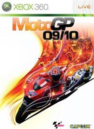 Box cover for MotoGP 09/10 on the Microsoft Xbox 360.