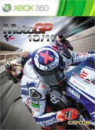 Box cover for MotoGP 10/11 on the Microsoft Xbox 360.
