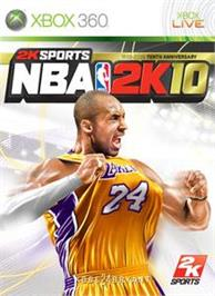 Box cover for NBA 2K10 on the Microsoft Xbox 360.