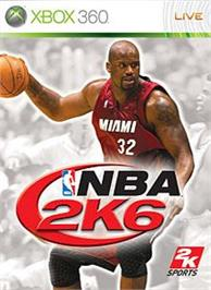 Box cover for NBA 2K6 on the Microsoft Xbox 360.