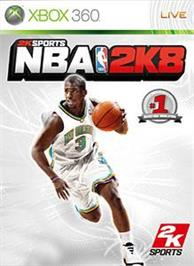Box cover for NBA 2K8 on the Microsoft Xbox 360.