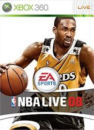 Box cover for NBA LIVE 08 on the Microsoft Xbox 360.