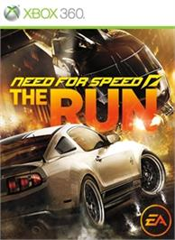 Box cover for NEED FOR SPEED THE RUN on the Microsoft Xbox 360.