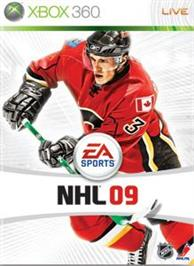 Box cover for NHL® 09 on the Microsoft Xbox 360.