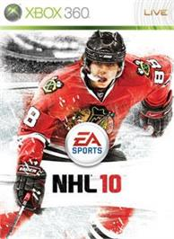 Box cover for NHL® 10 on the Microsoft Xbox 360.