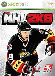 Box cover for NHL 2K8 on the Microsoft Xbox 360.