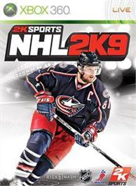 Box cover for NHL 2K9 on the Microsoft Xbox 360.